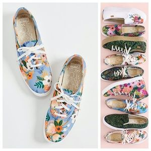 KEDS X Rifle Paper Co Sneakers Periwinkle Floral
